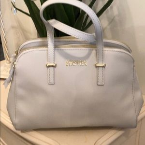NWOT KENNETH COLE REACTION IVORY/TAUPE SATCHEL
